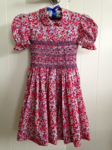Childs smocked dress in Wiltshire S