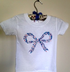 Liberty bow tee blue